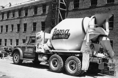 Historic photo of mixer and safety