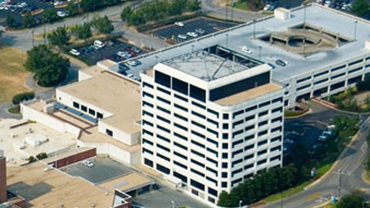 Projects: Aerial Photo of DCH Medical Tower in Tuscaloosa, AL