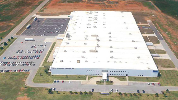 Projects: Aerial view of large white building