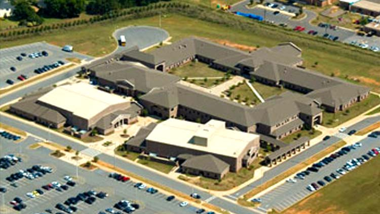 Projects: Aerial photo of high school campus