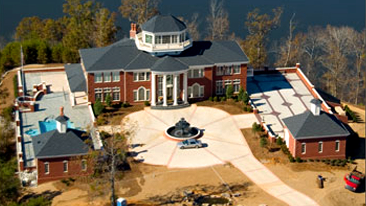 Projects: Aerial view of large home