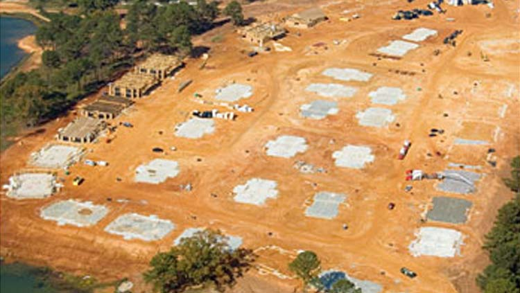 Projects: Concrete foundation pads for large apartment complexs