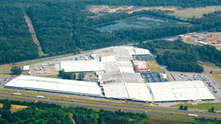 Projects: Aerial photo of large industrial building complex