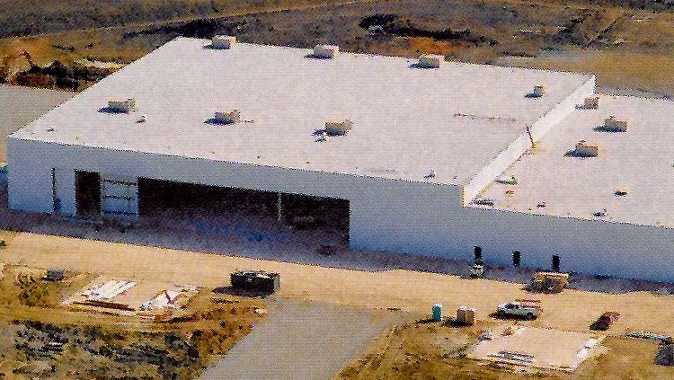 Projects: Aerial photo of large warehouse