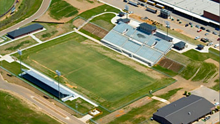 Projects: Aerial photo of football field